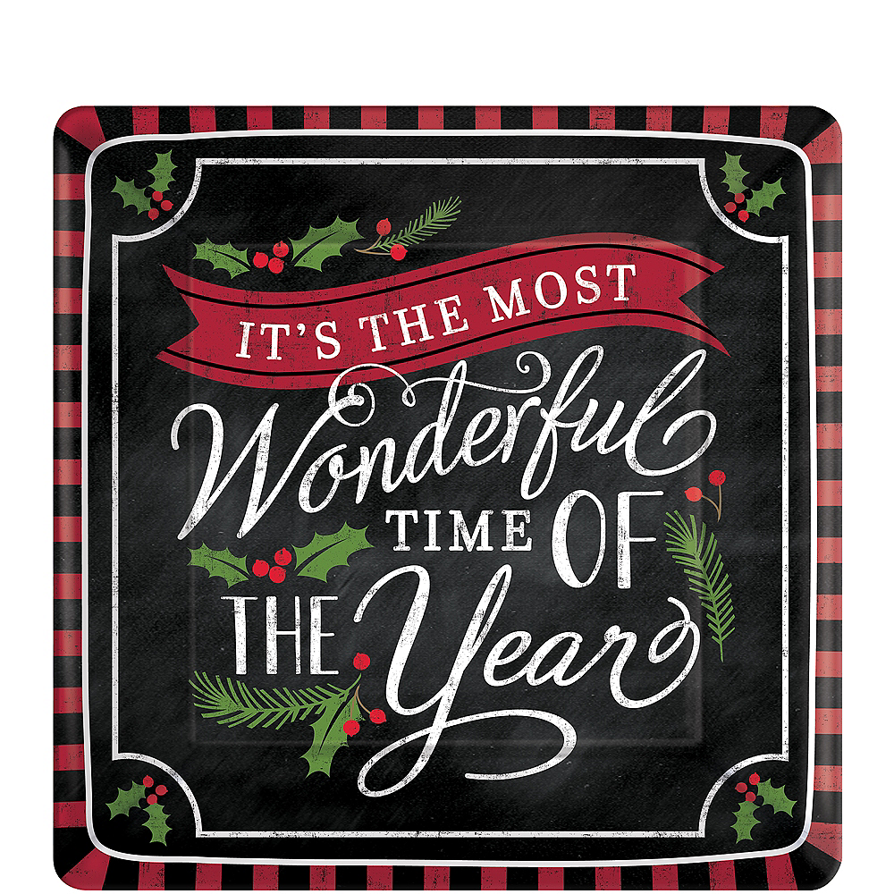 Most Wonderful Time Dessert Plates 18ct Image #1