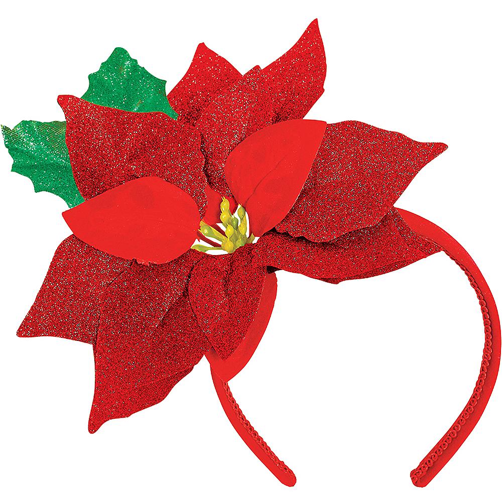 Glitter Poinsettia Headband Image #1