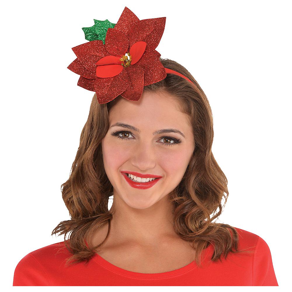 Glitter Poinsettia Headband Image #2