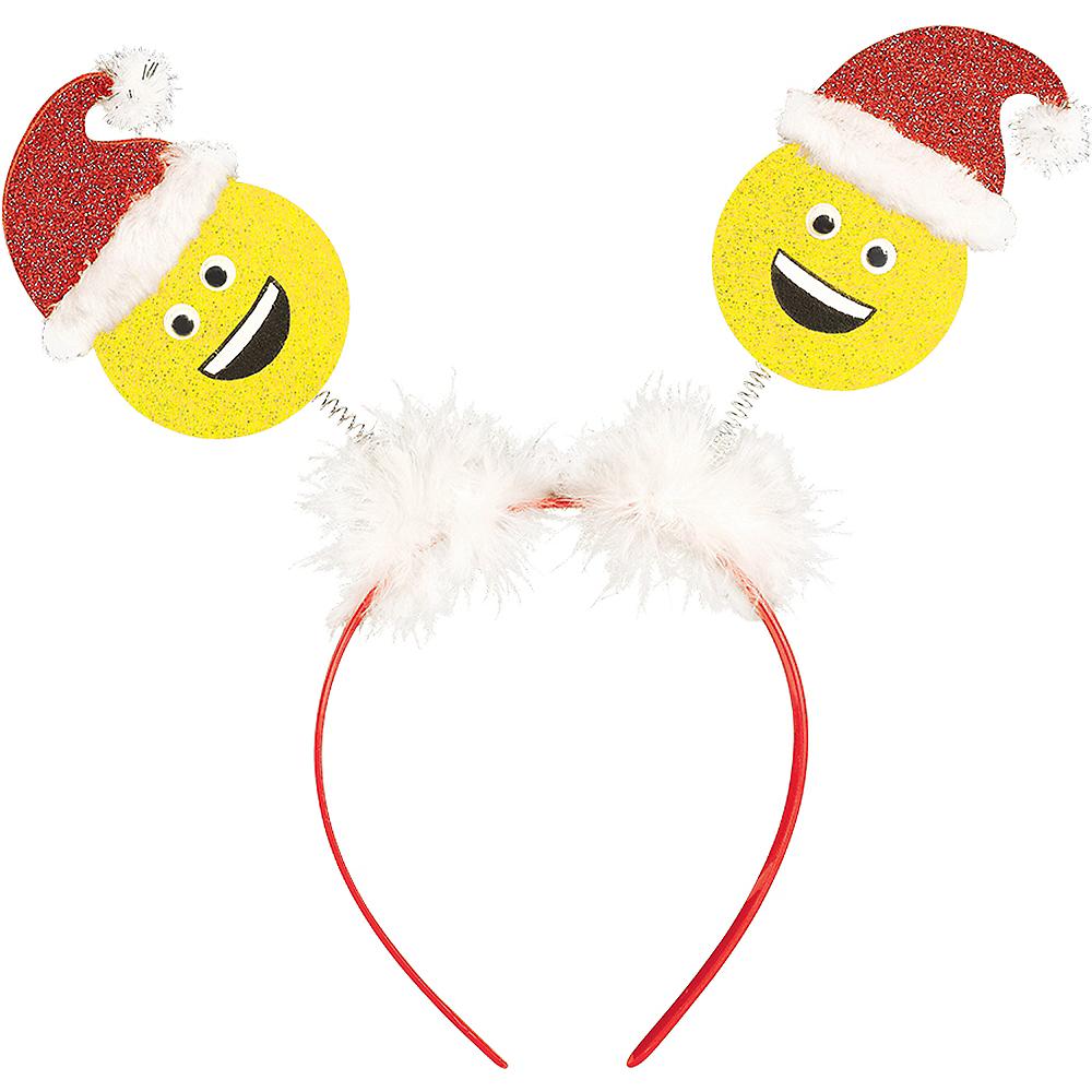 Glitter Smiley Santa Head Bopper Image #1