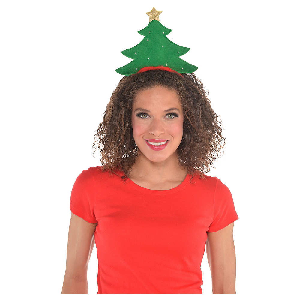 Light-Up Green Christmas Tree Headband Image #2
