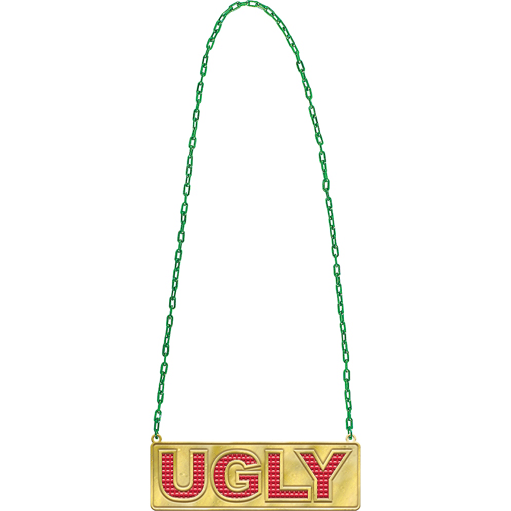 Ugly Pendant Chain Link Necklace Image #1