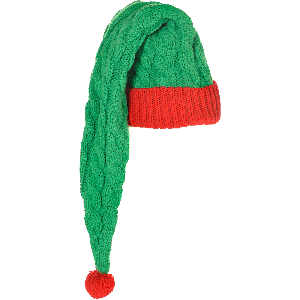 Long Cable-Knit Elf Hat Image #1