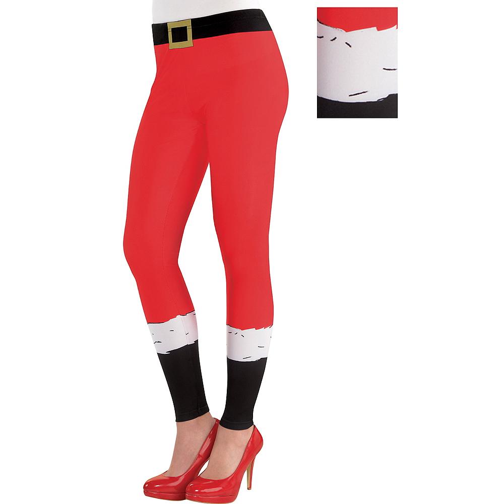 Adult Santa Leggings Image #1