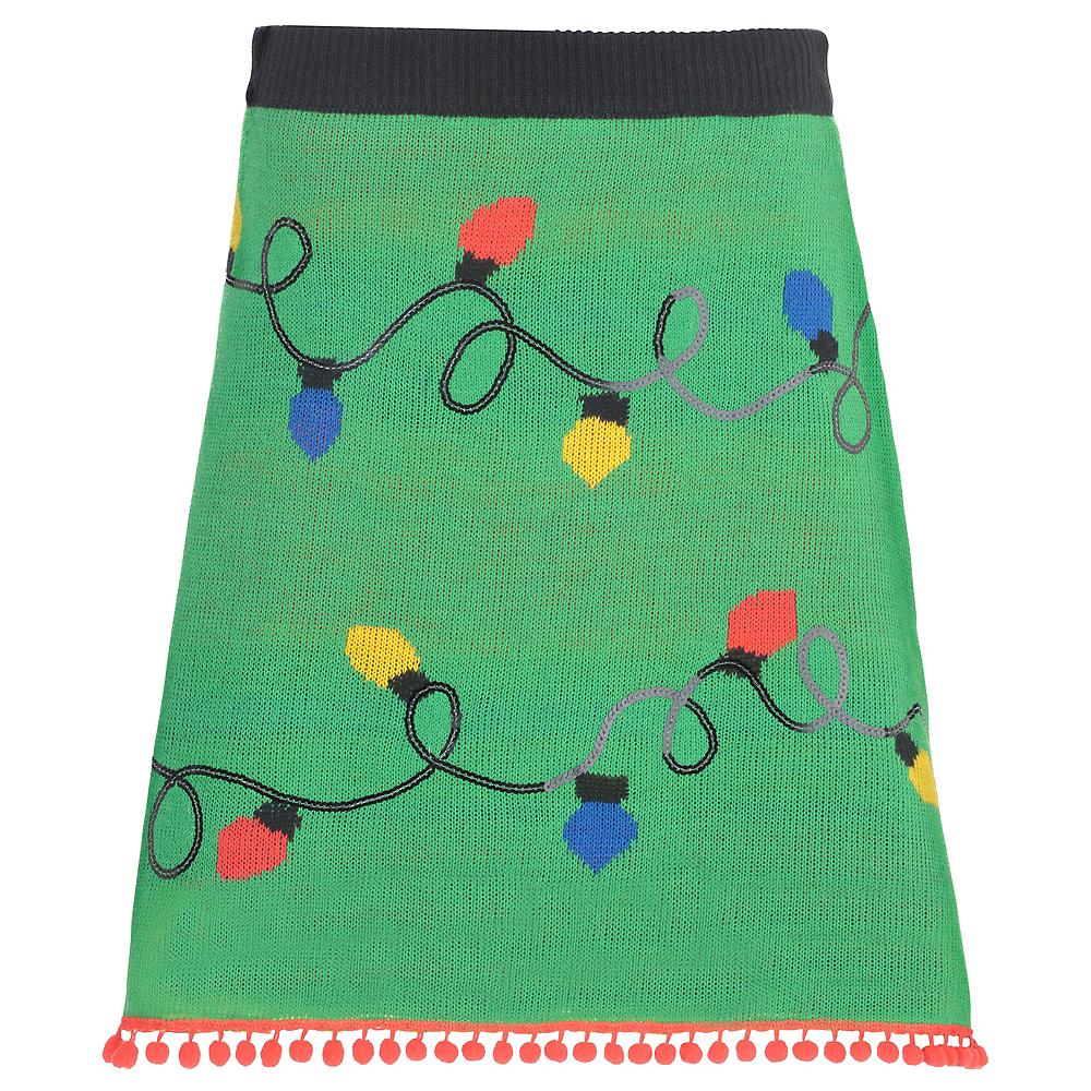 Adult Christmas Lights Ugly Christmas Sweater Skirt Image #2
