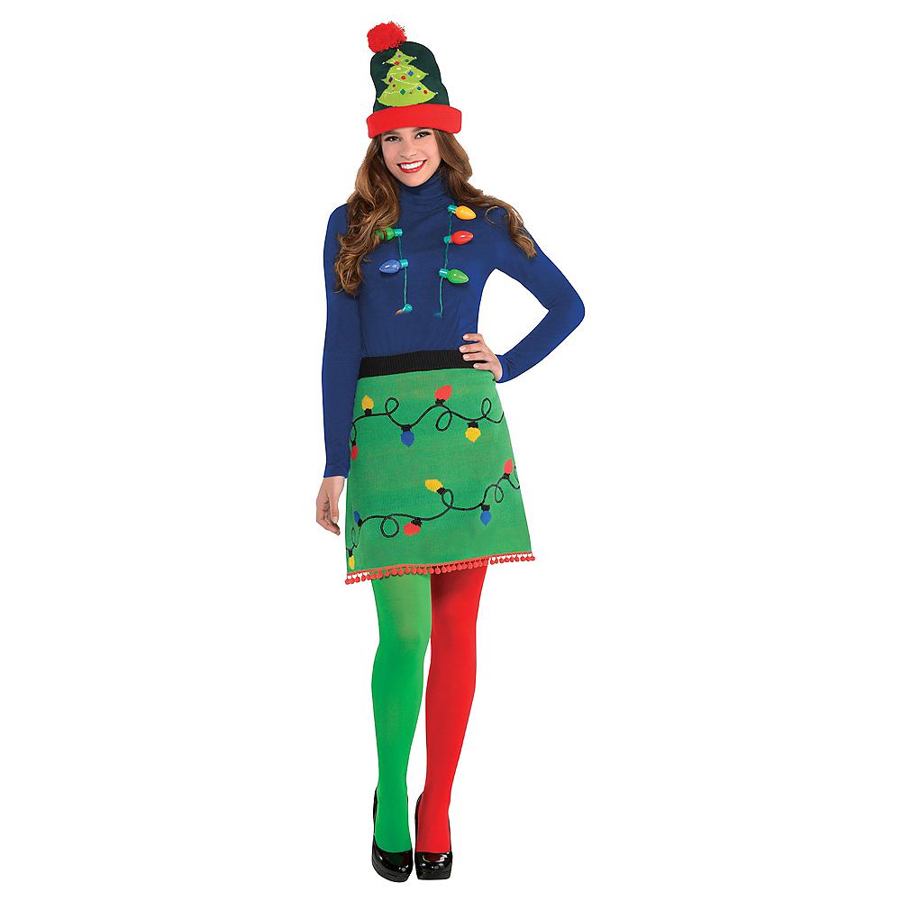 Adult Christmas Lights Ugly Christmas Sweater Skirt Image #3