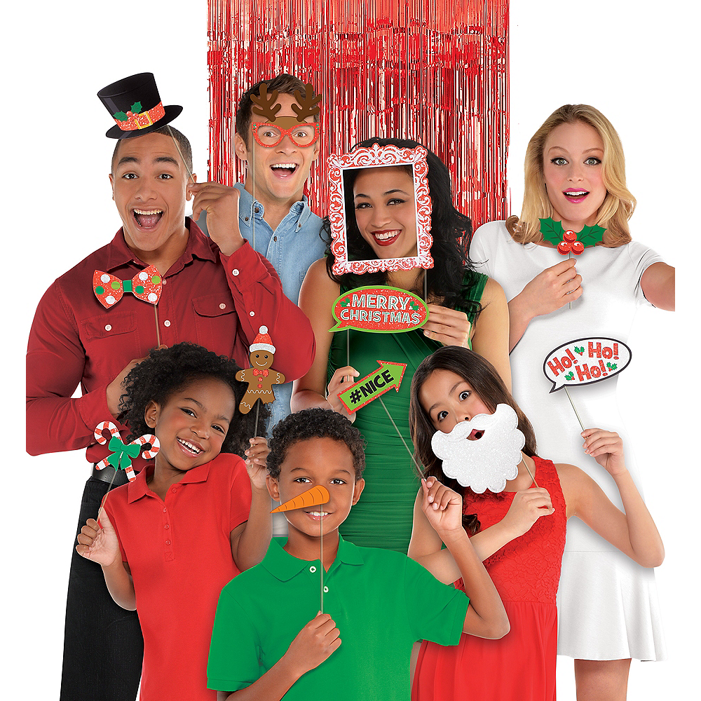 Christmas Photo Booth Props 21ct Image #1