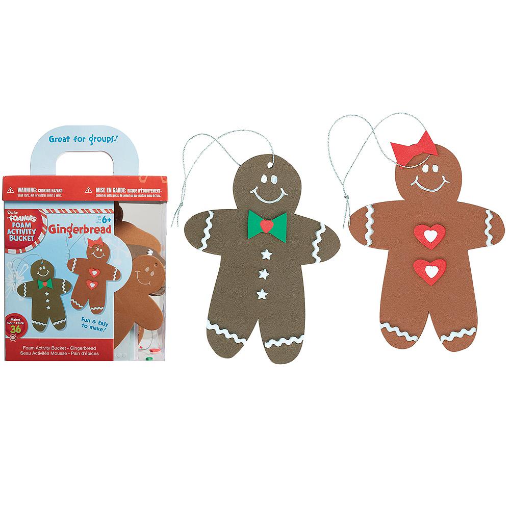 Gingerbread Man Ornament Craft Kit 46pc Image #1