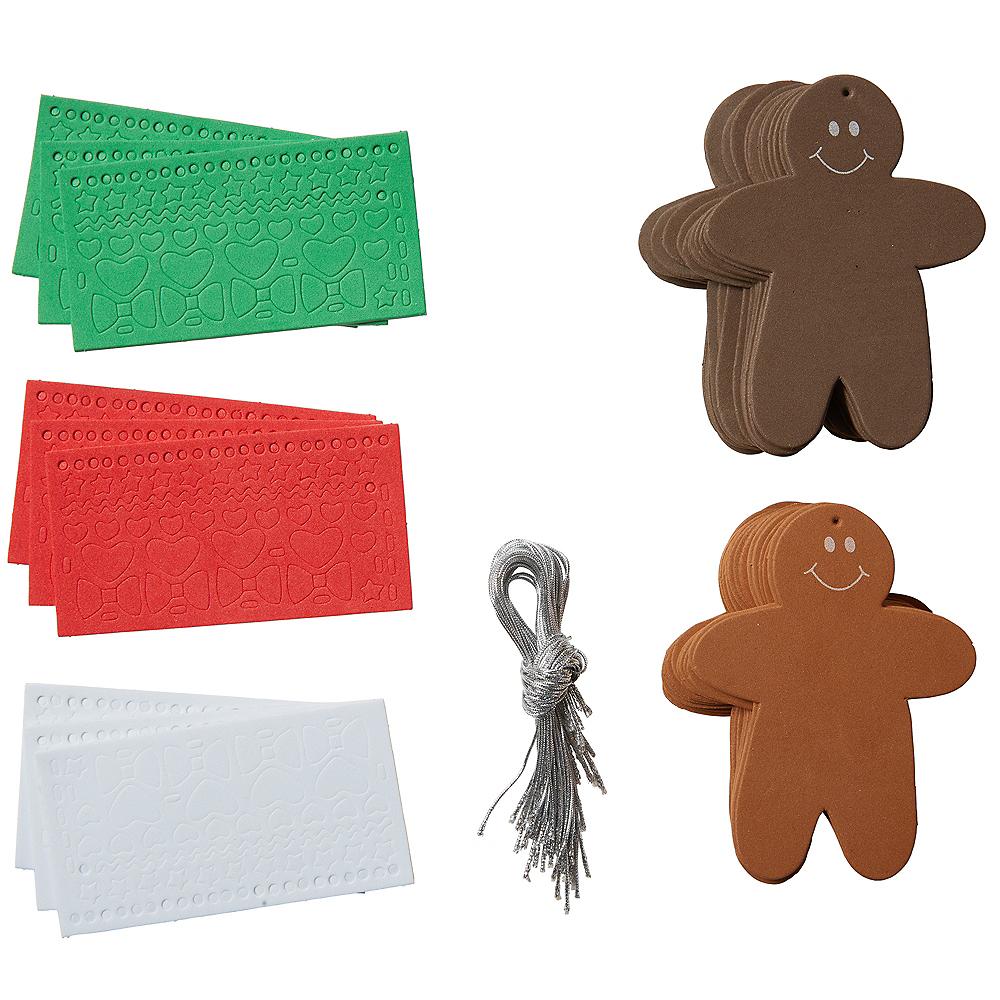 Gingerbread Man Ornament Craft Kit 46pc Image #2