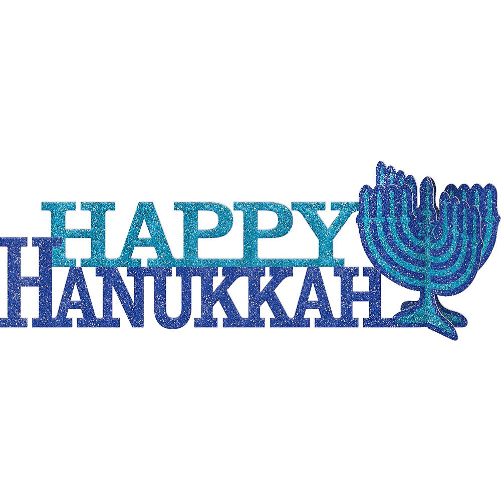 Glitter Happy Hanukkah Centerpiece Image #1