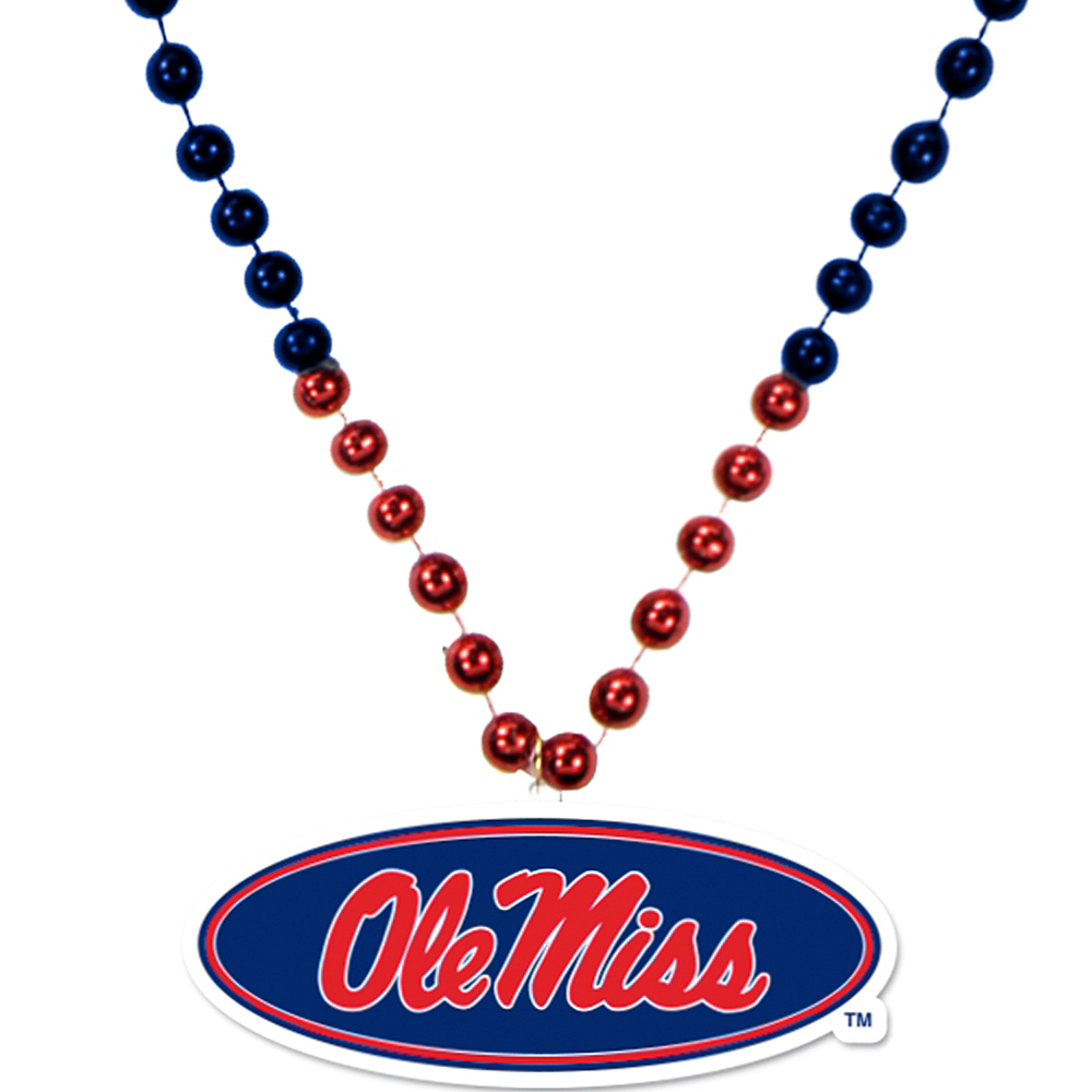 Ole Miss Rebels Pendant Bead Necklace Image #1