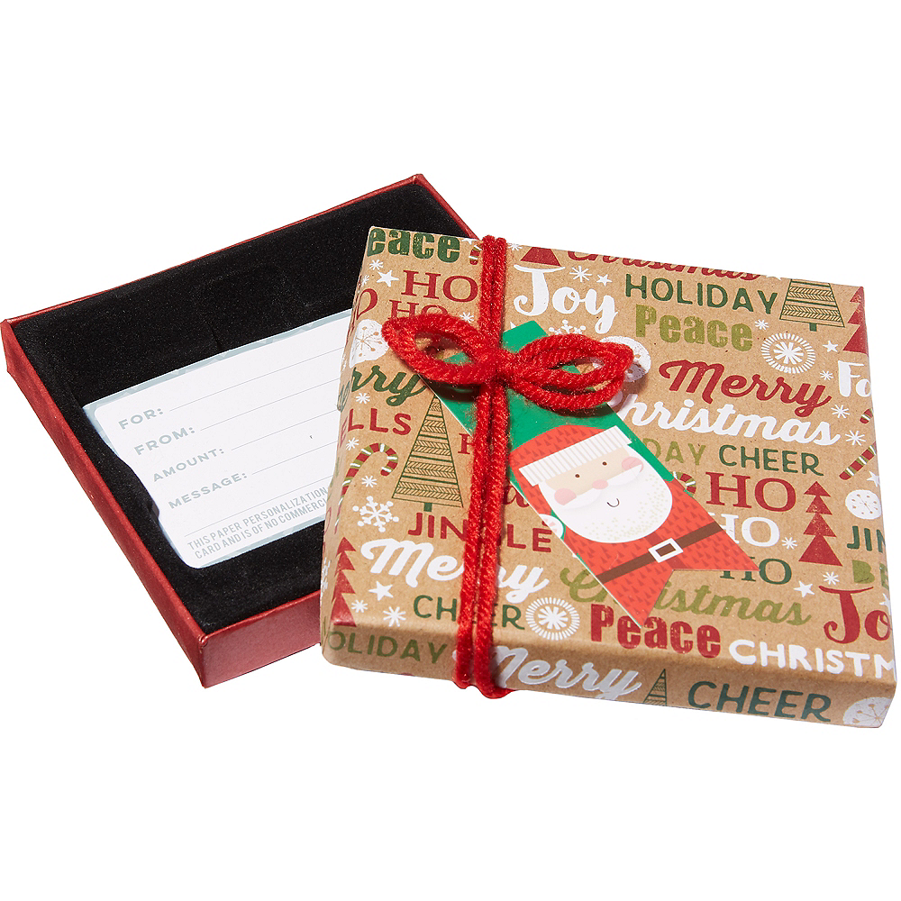Christmas Phrases Gift Card Holder Box 4in x 4in | Party City