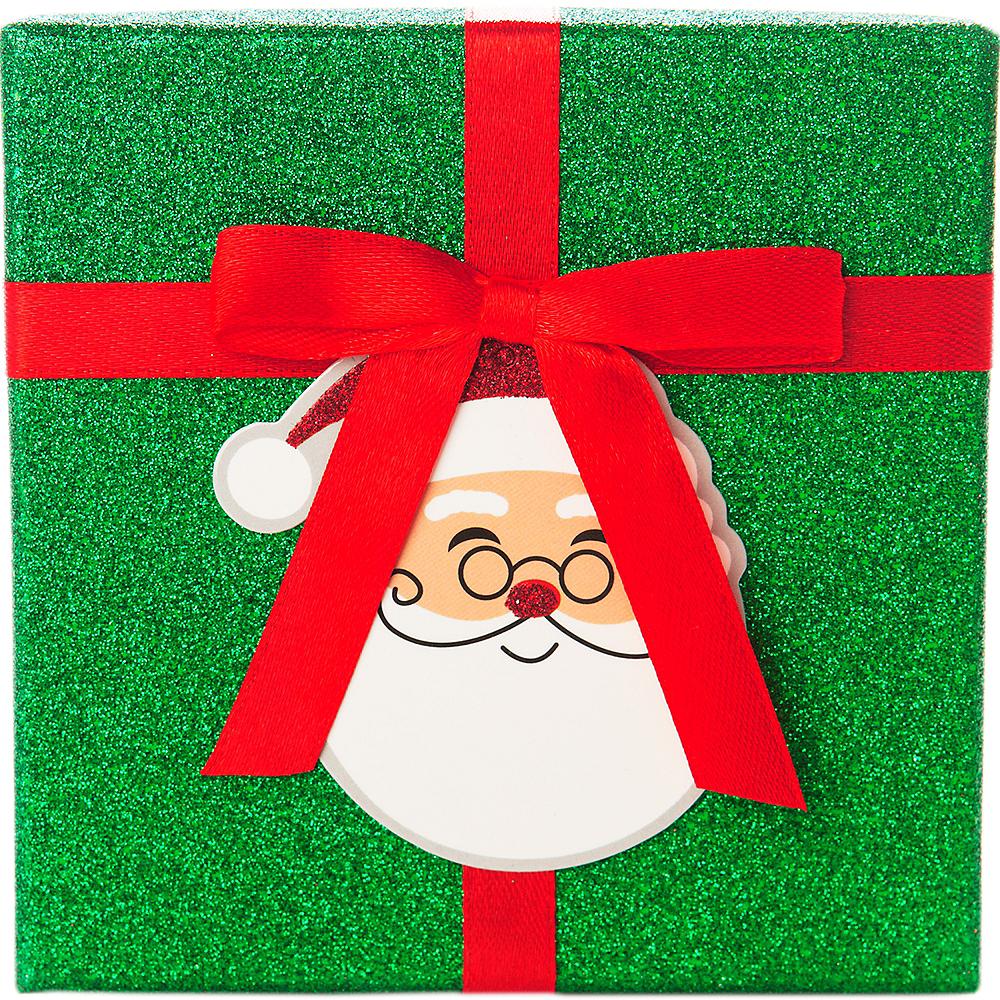 Glitter Green Santa Claus Gift Card Holder Box Image #2