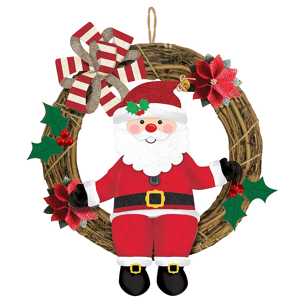 Santa Wreath Image #1