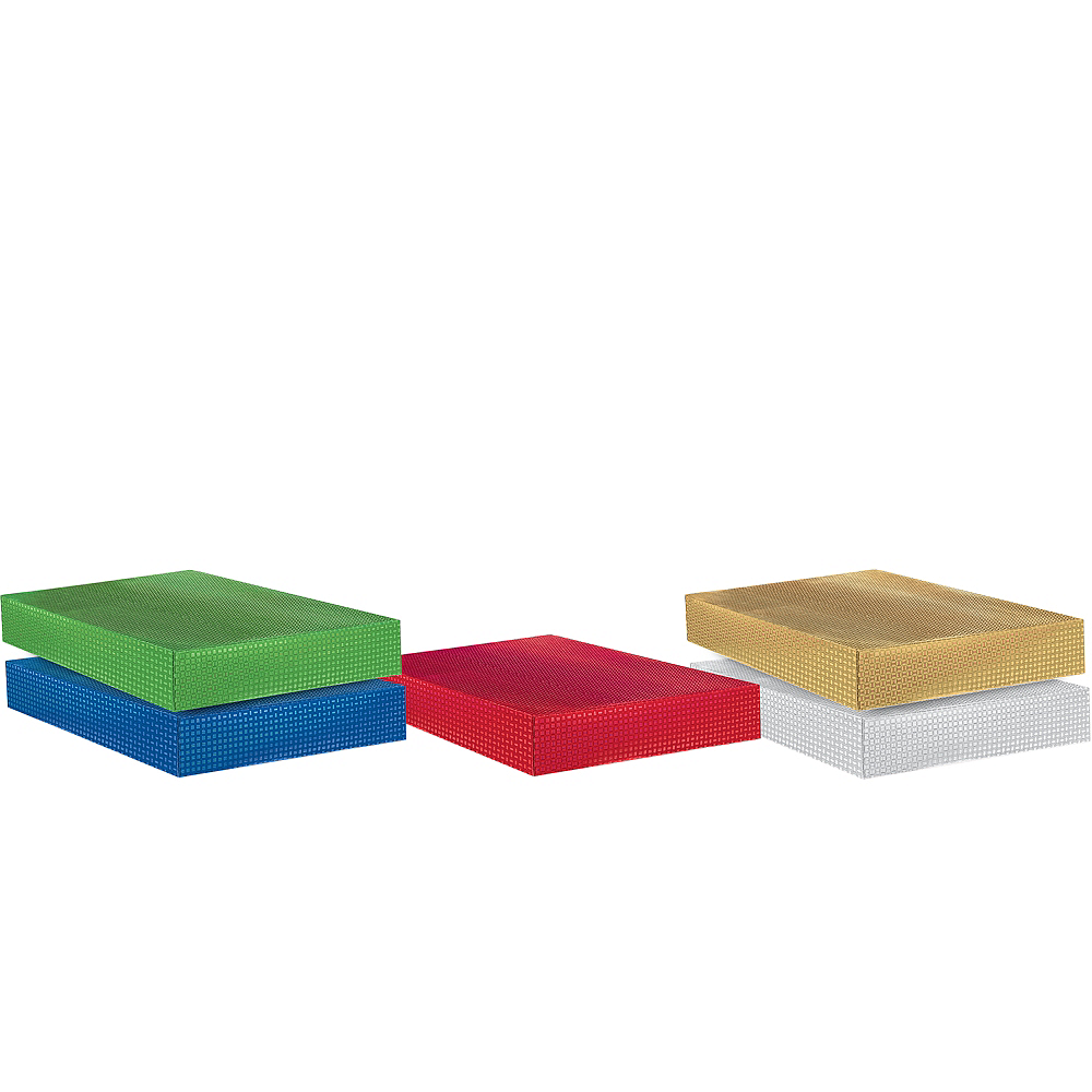 Assorted Metallic Colors Gift Boxes 8ct