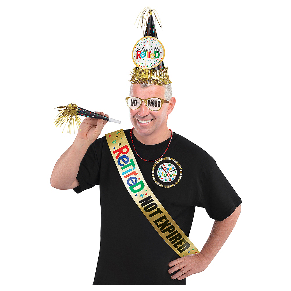 Happy Retirement Celebration Accessory Kit 6pc Image #1