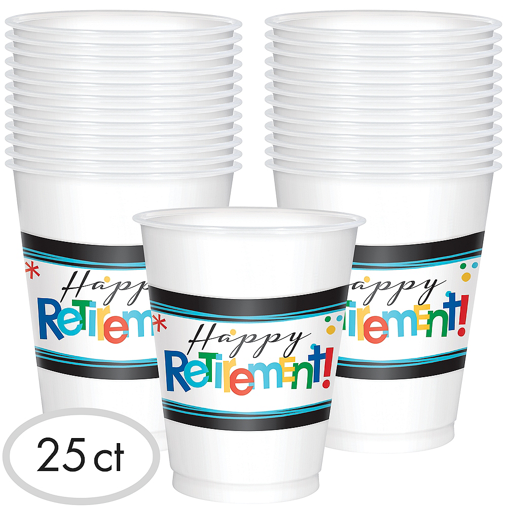 Nav Item for Happy Retirement Celebration Cups 25ct Image #1