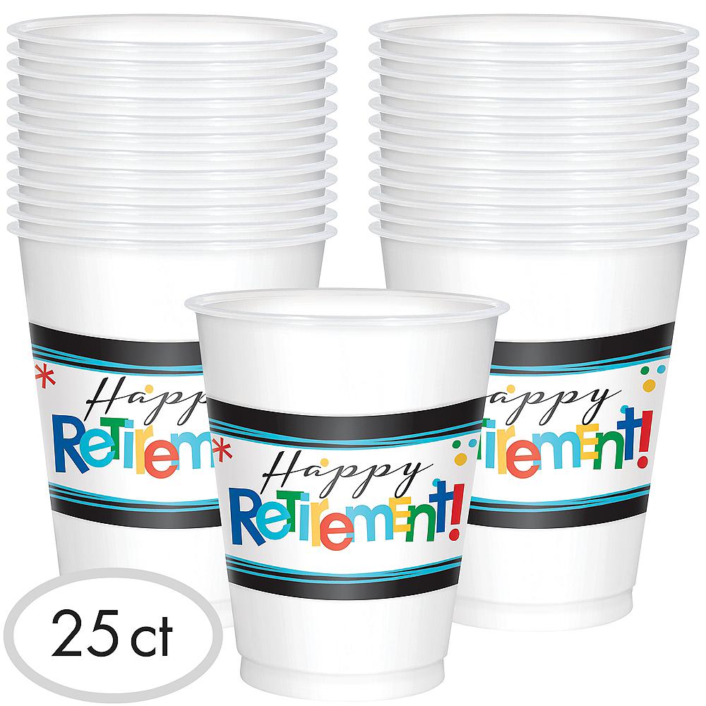 Happy Retirement Celebration Cups 25ct Image #1