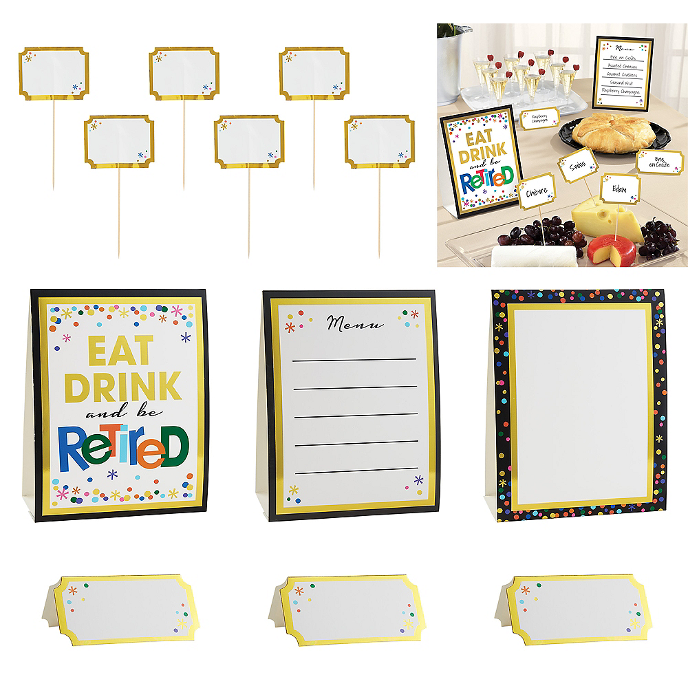 Happy Retirement Celebration Buffet Decorating Kit 12pc Image #1