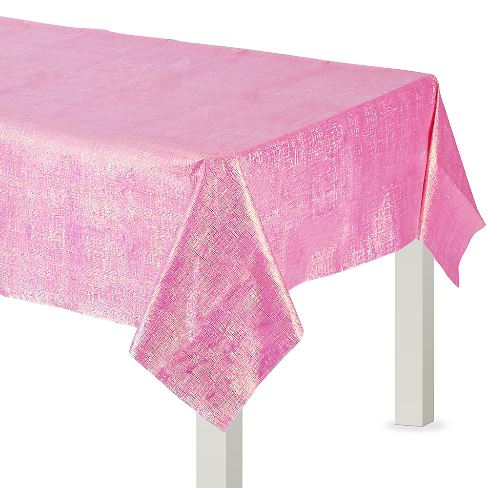 Bright Pink Opalescent Table Cover Image #1
