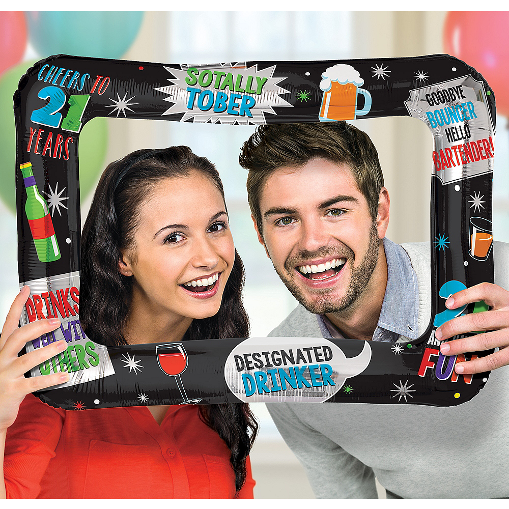 21st Birthday Inflatable Frame Image #1