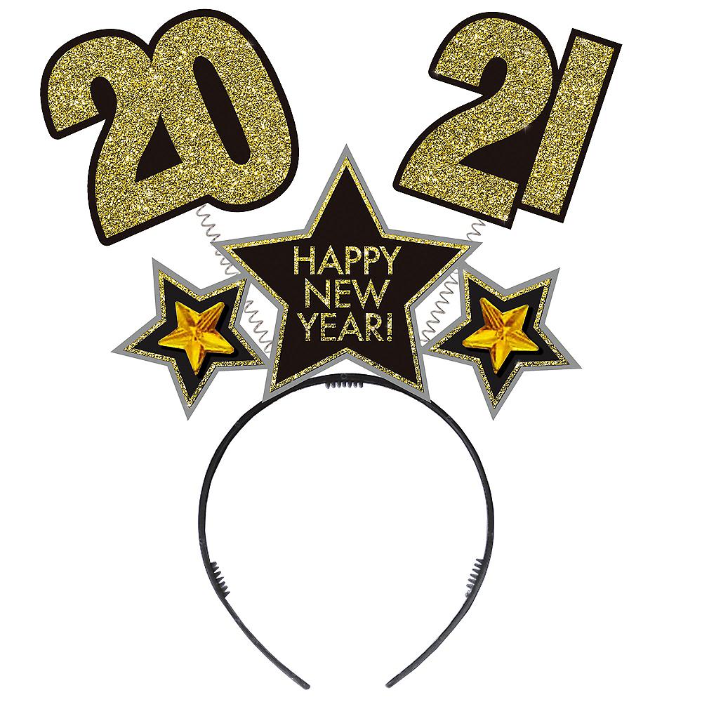 Glitter Black, Gold & Silver 2020 New Year's Head Bopper Image #1