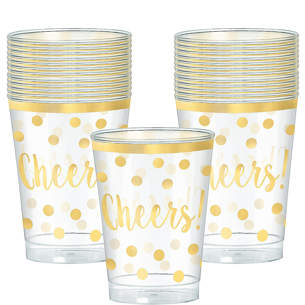 Nav Item for Cheers to a New Year Plastic Cups 30ct Image #1
