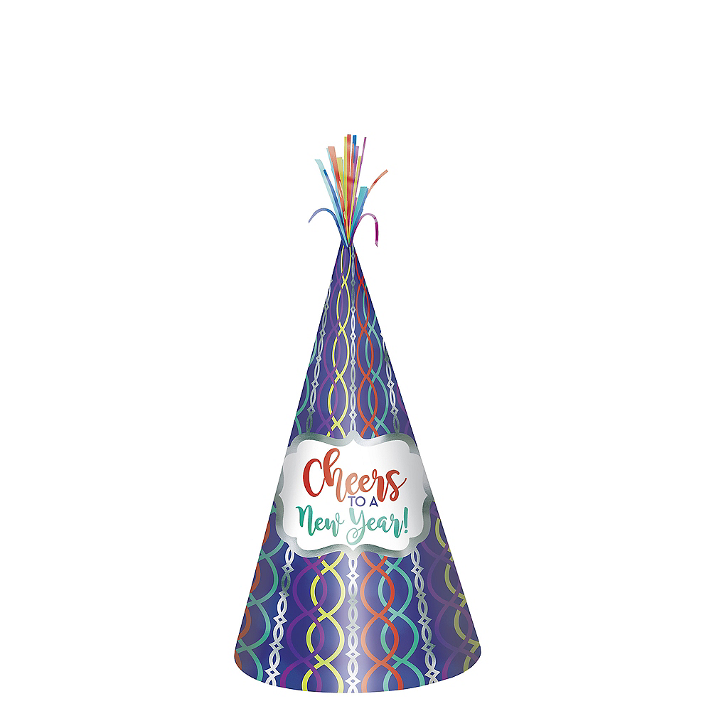 Metallic Colorful Cheers to a New Year Party Hat Image #1