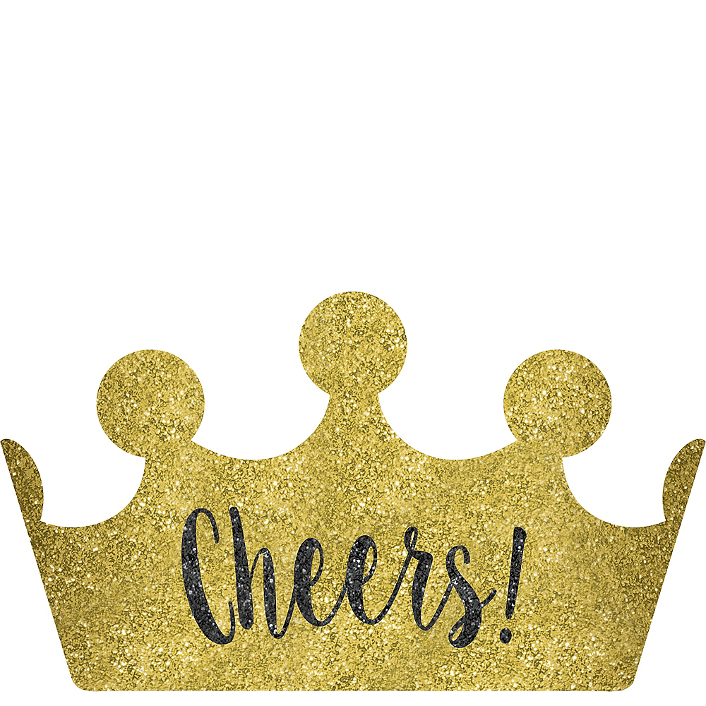 Glitter Gold Cheers New Year's Crown Headband Image #1
