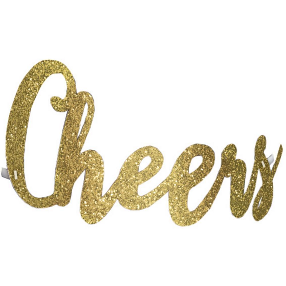 Glitter Gold Cheers New Year's Headband Image #1