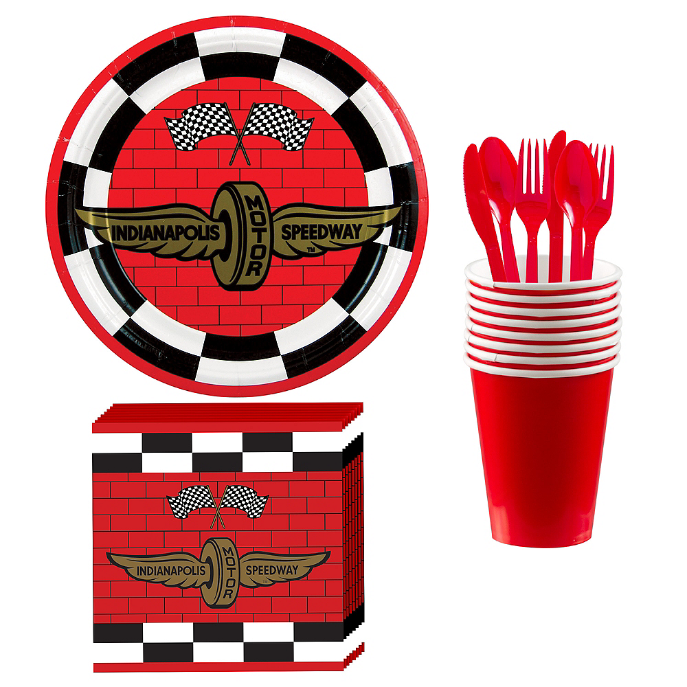 Indy 500 Basic Tableware Kit for 8 Guests Image #1
