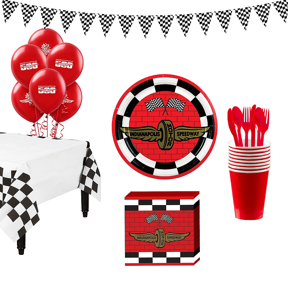 Indy 500 Super Tableware Kit for 16 Guests Image #1