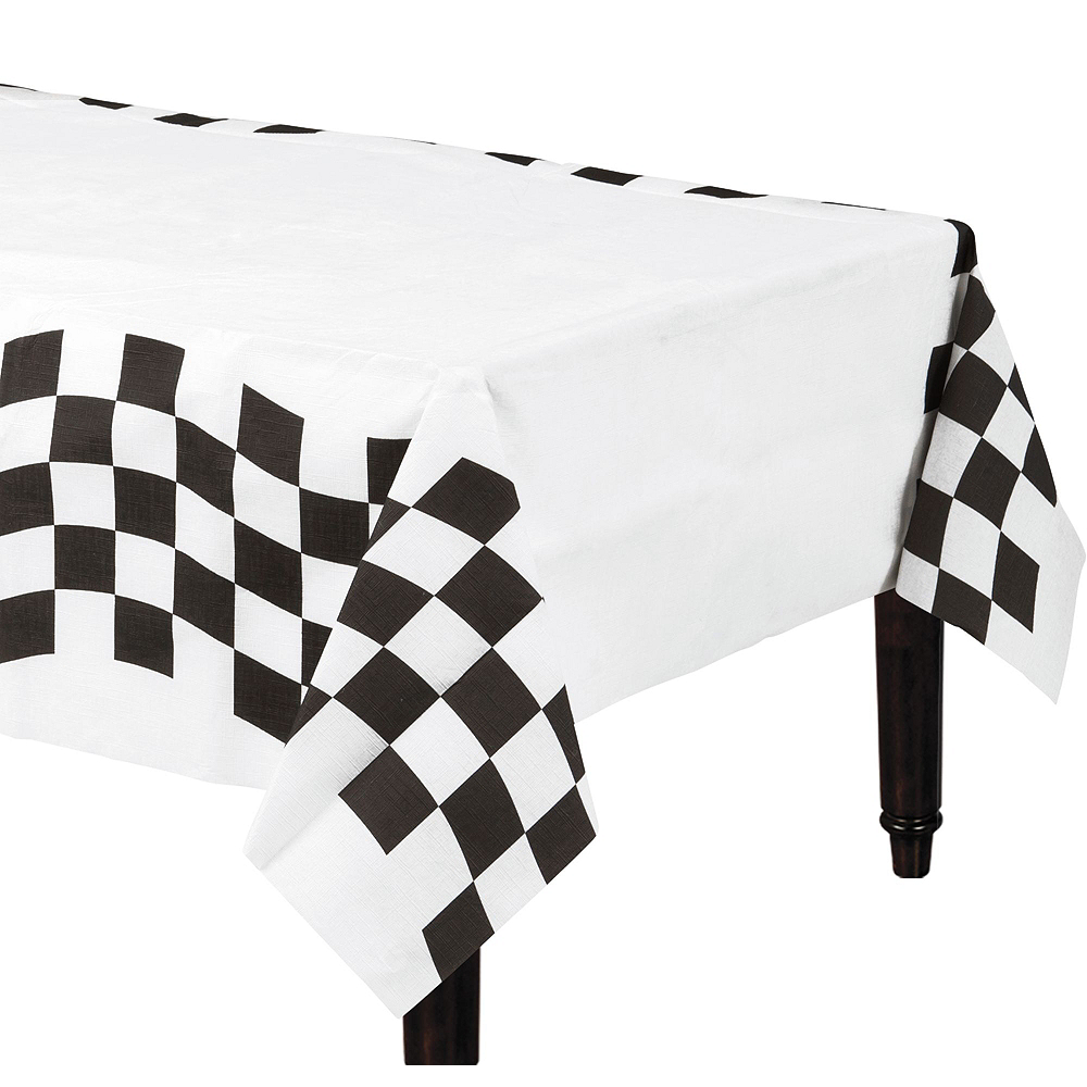 Black & White Checkered Super Tableware Kit for 16 Guests Image #5