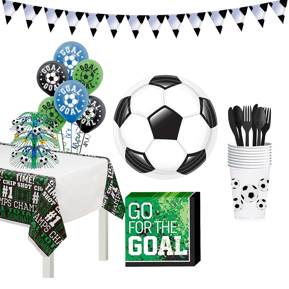 Soccer Basic Tableware Kit for 8 Guests Image #1