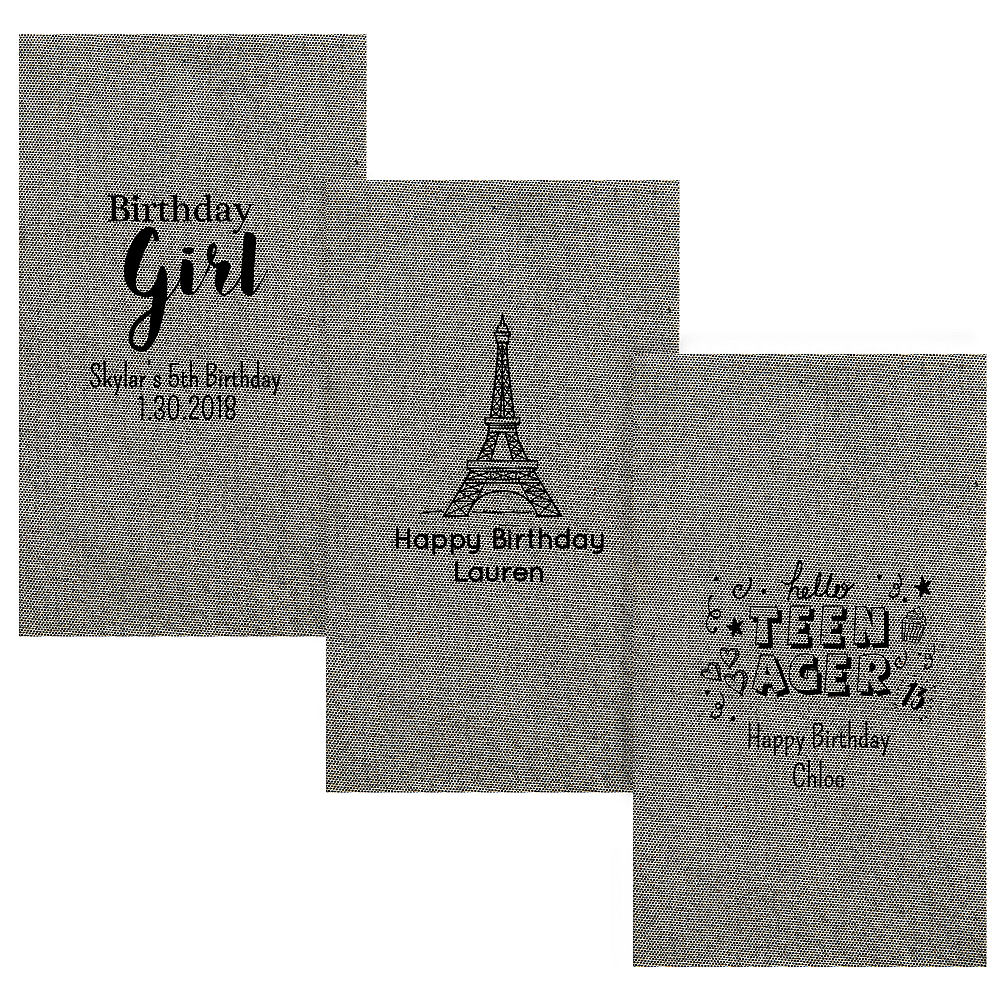 Personalized Girls Birthday Tweed Print Guest Towels Image #1