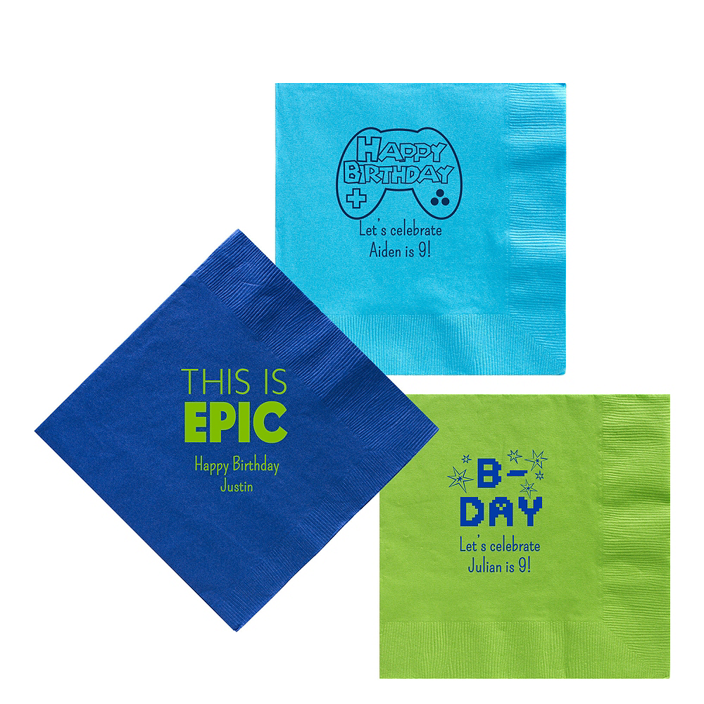 Personalized Boys Birthday Lunch Napkins Image #1