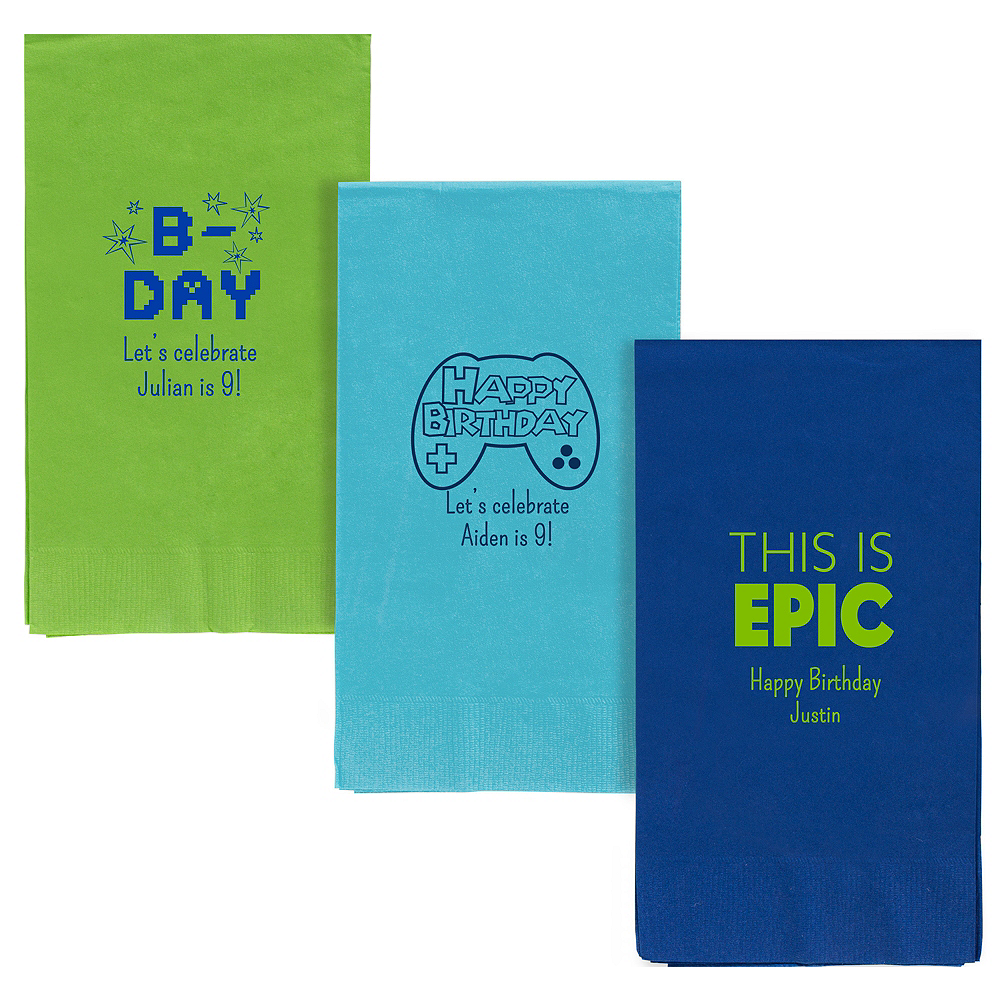 Personalized Boys Birthday Guest Towels Image #1