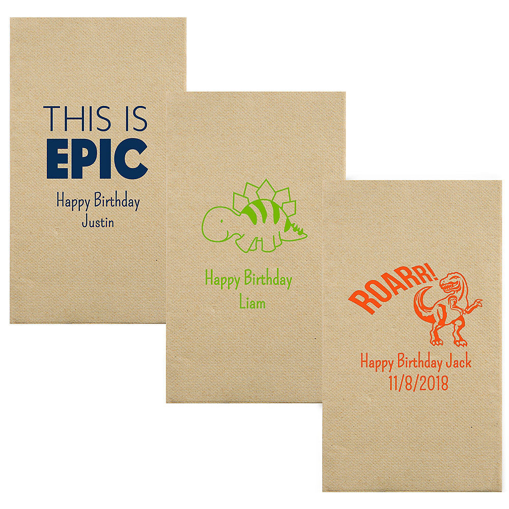 Personalized Boys Birthday Eco-Friendly Guest Towels Image #1