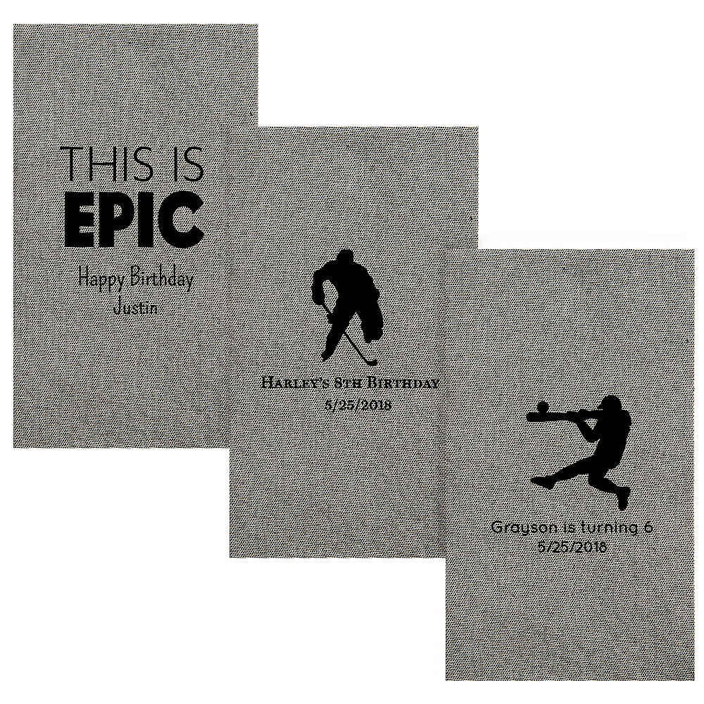 Personalized Boys Birthday Tweed Print Guest Towels Image #1