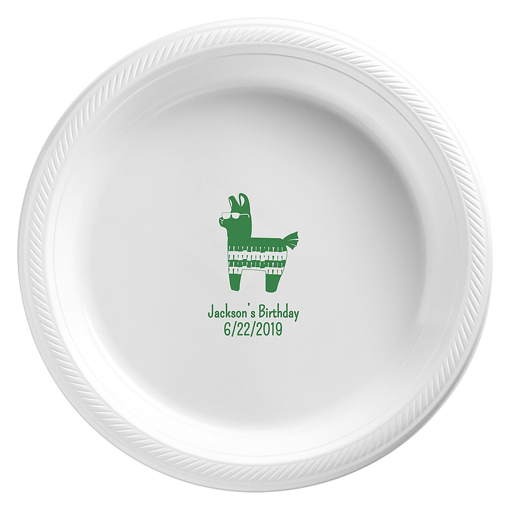 Personalized Boys Birthday Plastic Dinner Plates Image #1
