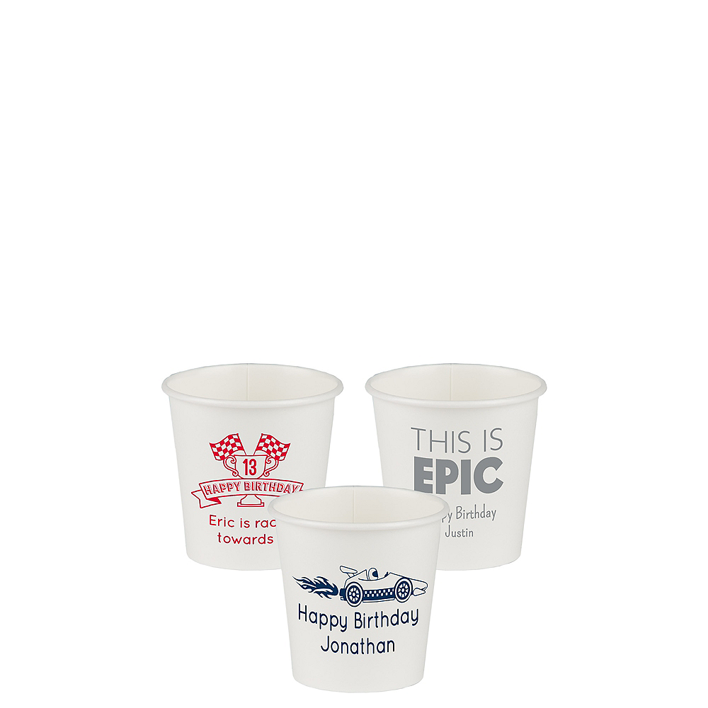 Personalized Boys Birthday Paper Cups 4oz Image #1
