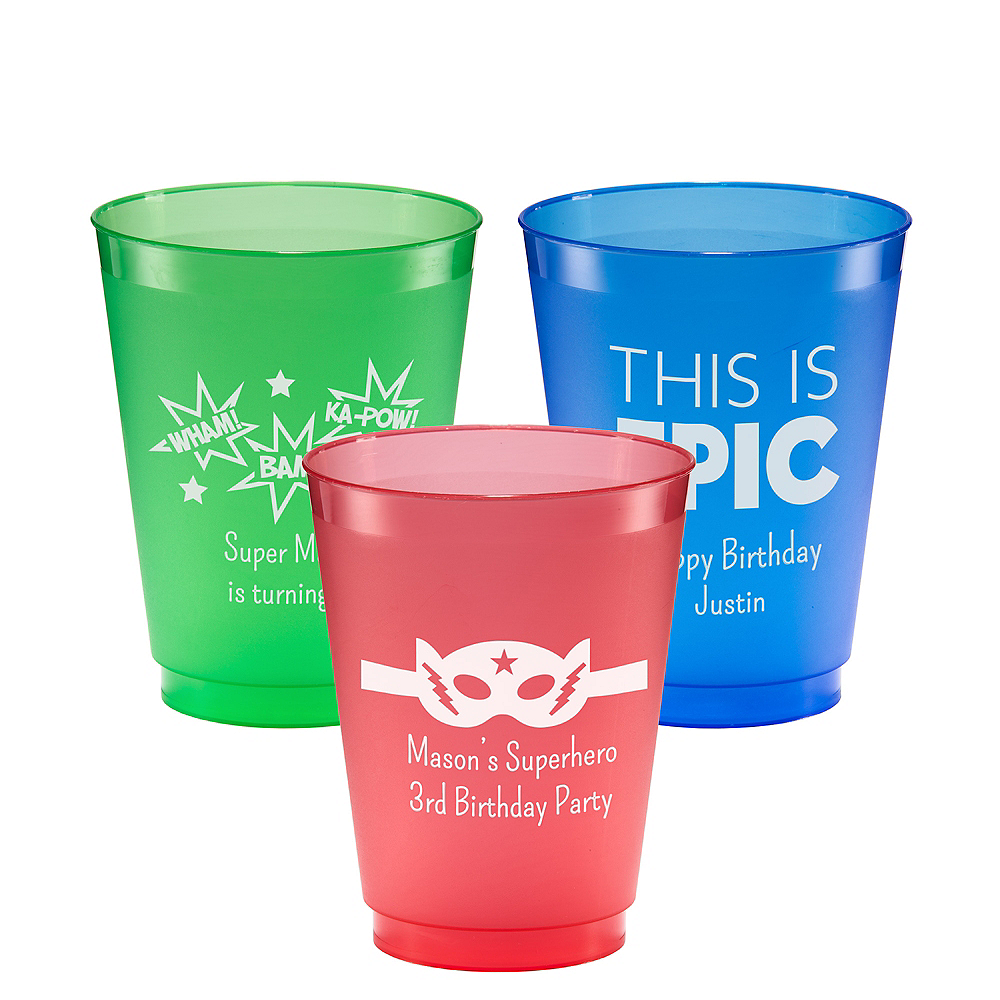 Personalized Boys Birthday Plastic Shatterproof Cups 16oz Image #1