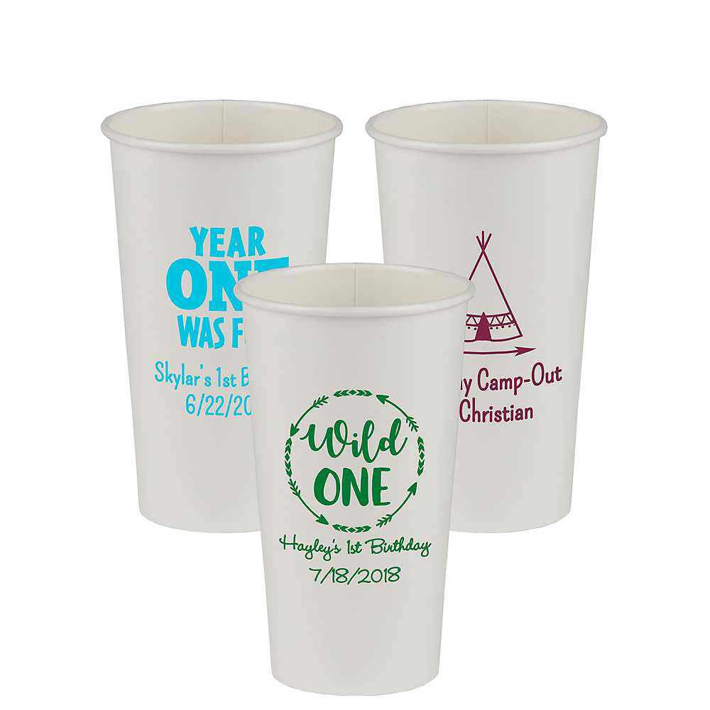 Personalized 1st Birthday Paper Cups 20oz Image #1