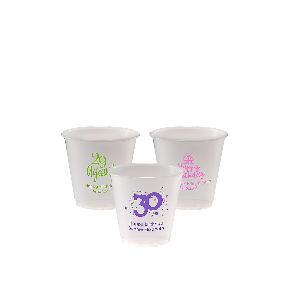 Personalized Milestone Birthday Plastic Party Cups 3.5oz Image #1