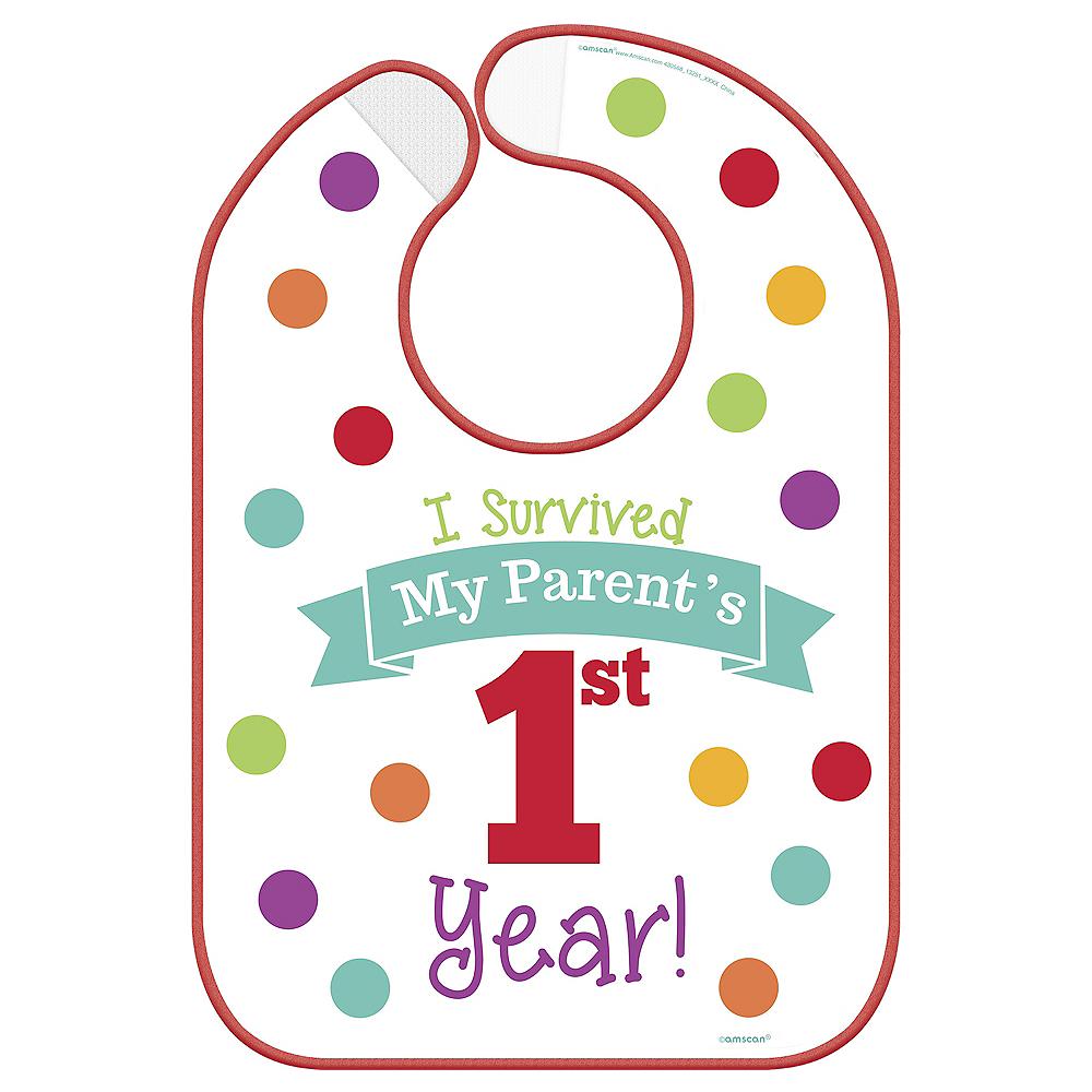 Surviving Parent's 1st Year Birthday Bib Image #1