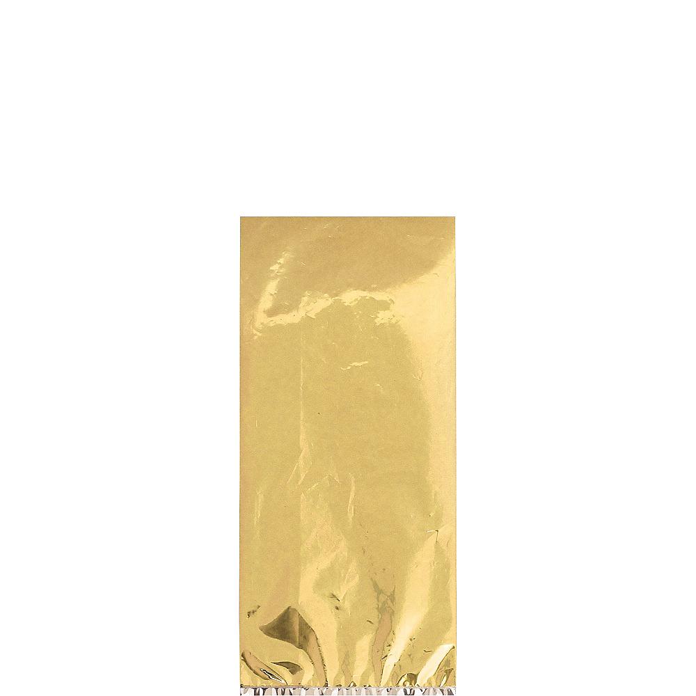 Small Metallic Gold Plastic Treat Bags 25ct Image #1