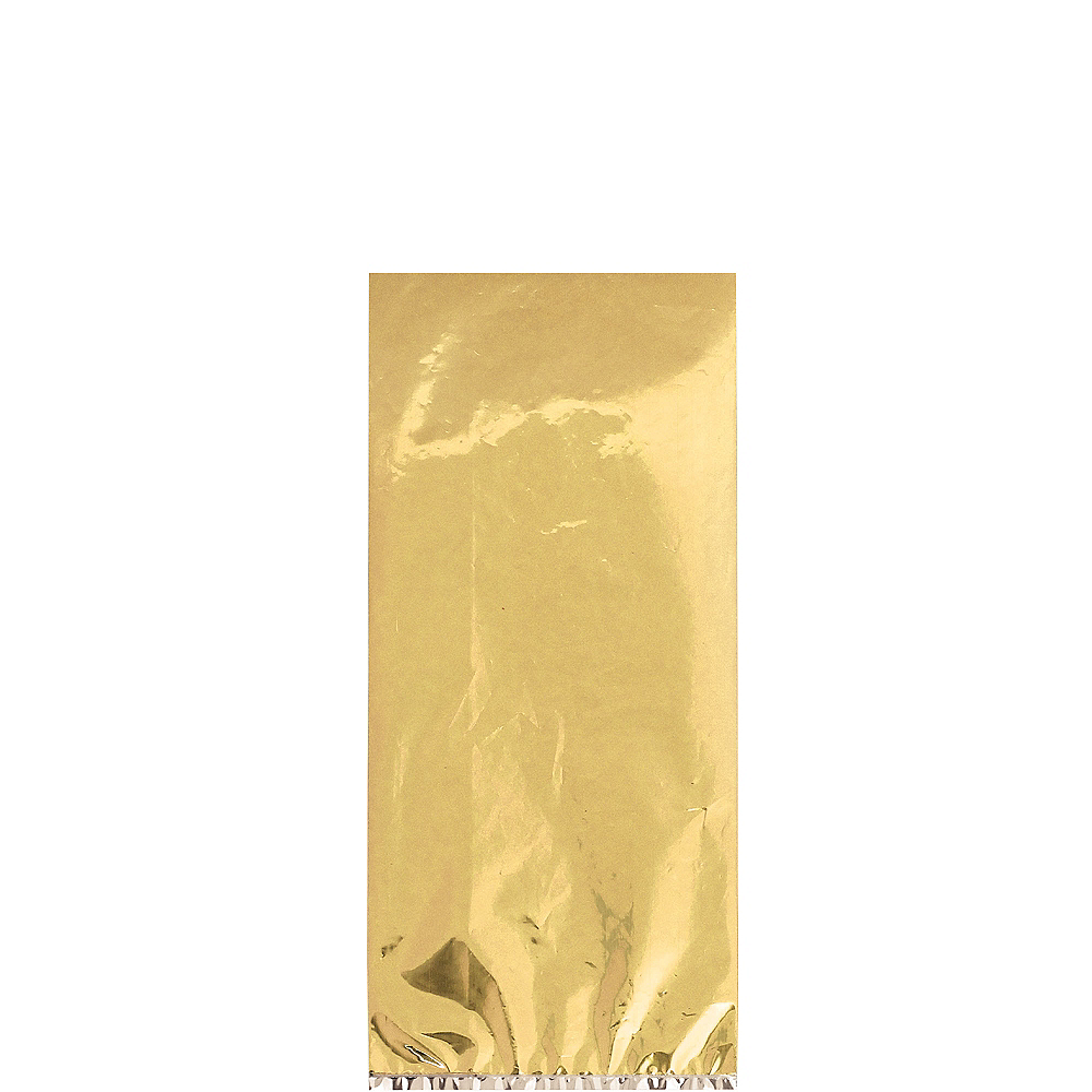 Medium Metallic Gold Plastic Treat Bags 25ct Image #1