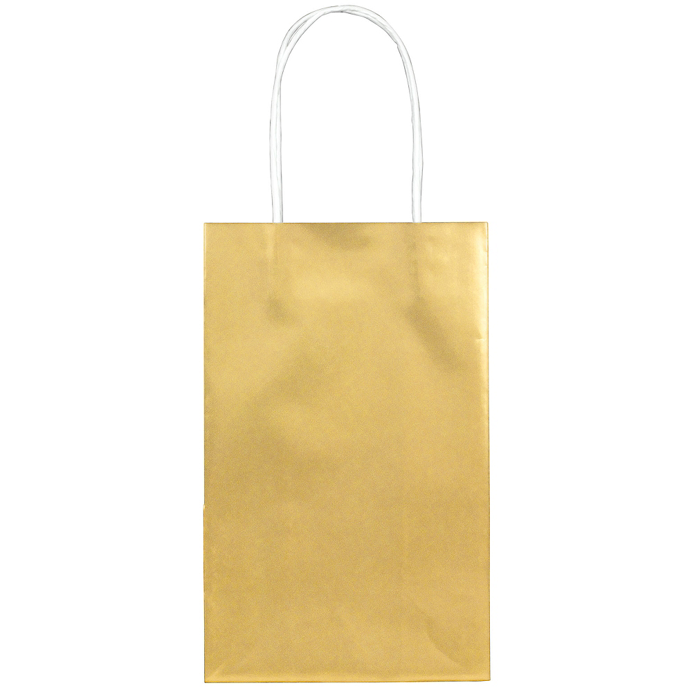 7763c5dd29 Medium Metallic Gold Kraft Gift Bags 10ct Image  1