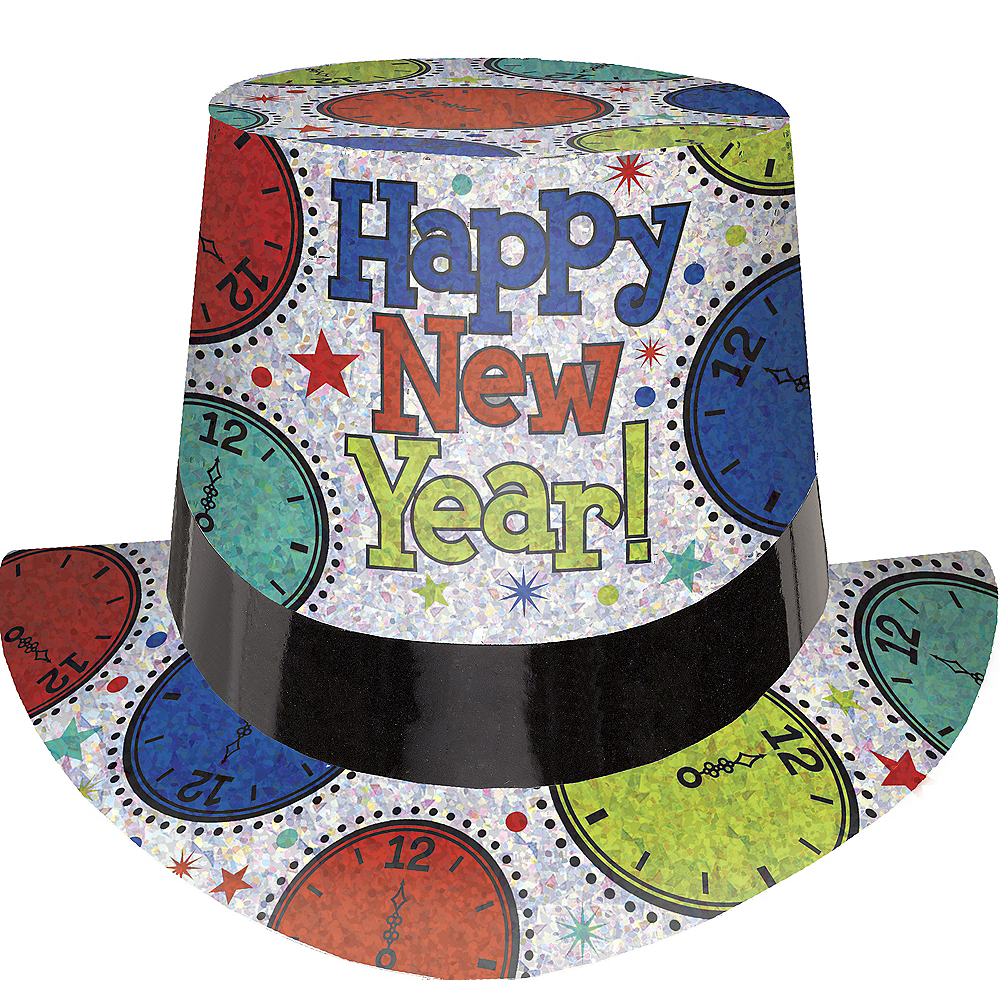 Prismatic Colorful New Year Top Hat Image #1