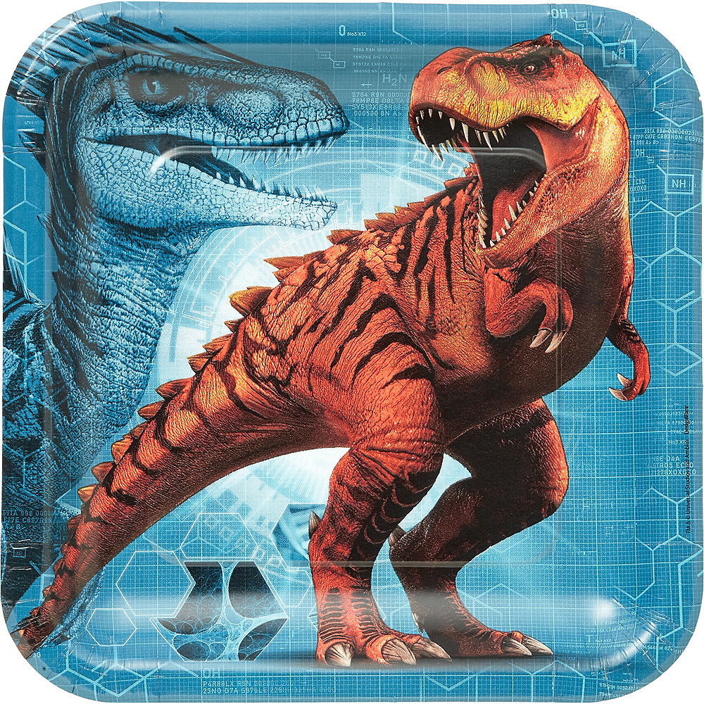 Jurassic World Lunch Plates 8ct Image #1